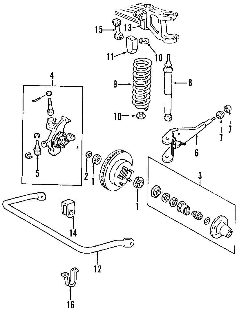 Mazda B3000 Shock Absorber. SUSPENSION, Duty, Cab