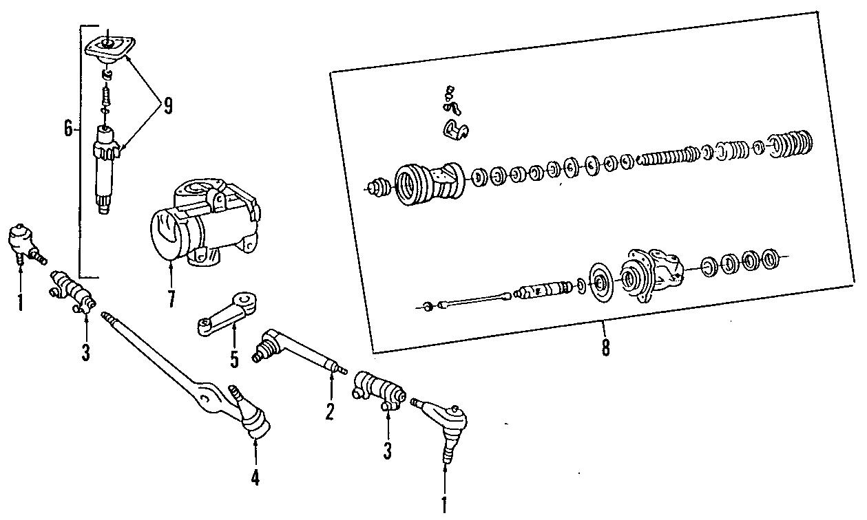 Mazda B3000 Seal kit, s. B2300, b3000, b4000; overhaul kit