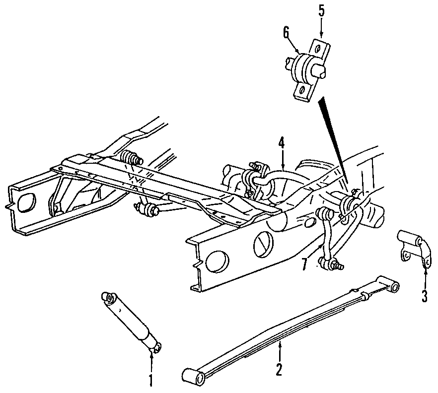 Mazda B2300 Shock Absorber (Rear). 2WD; All; 6L54-18080-AC