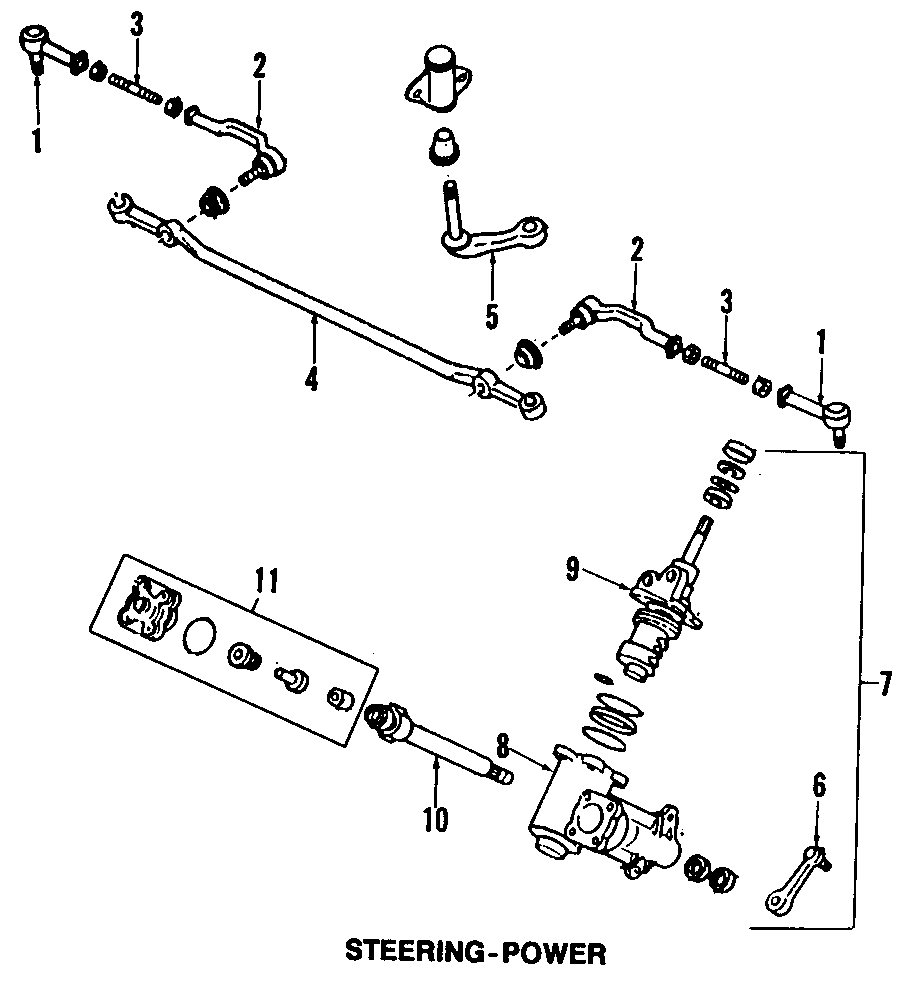 Mazda B2600 Seal kit, seat. Gear. Steering gear seal kit