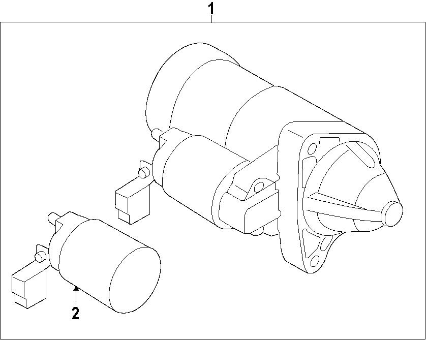 Mazda 6 Starter Solenoid. 2.5 LITER TURBO. CX-5; 2.5L; w