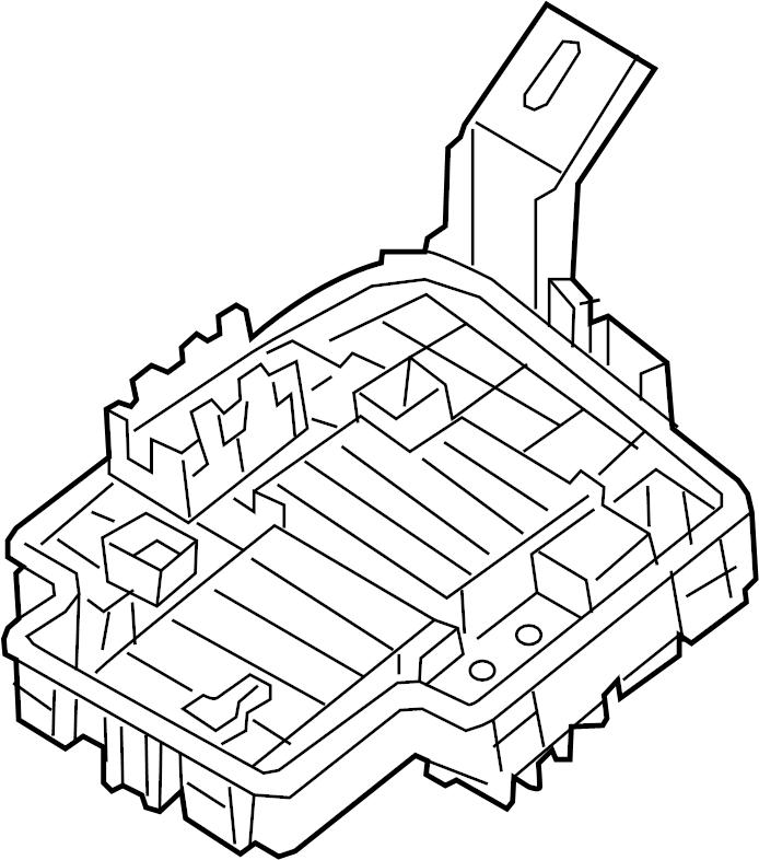 Mazda CX-3 Block, main fuse. Fuse and relay box. Fuse and