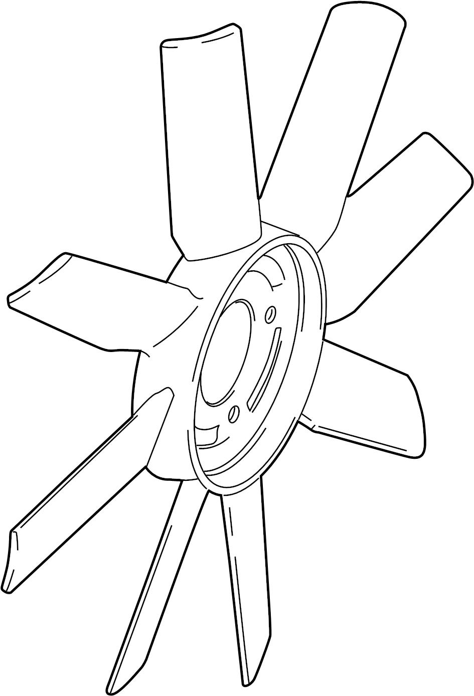 Mazda B2300 Engine Cooling Fan Clutch Blade. Fan. Cooling