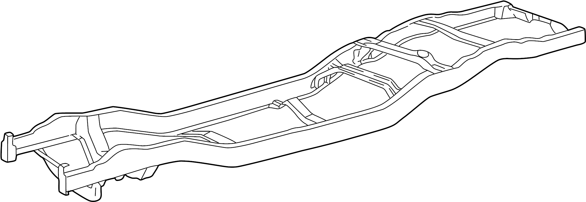 Mazda B3000 Frame Rail. 2WD, w/torsion bar suspension