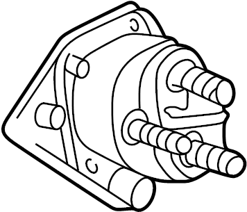 Mazda B3000 Starter rear. Starter relay. Telematics