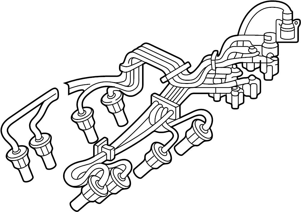 Mazda B2500 Spark Plug Wire Set. 2.3 & 2.5 LITER, 2.5