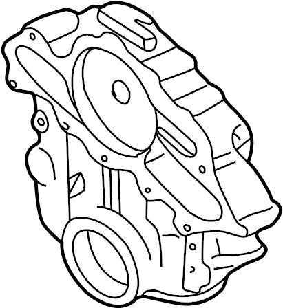 Mazda B3000 Engine Timing Cover. 3.0 LITER. B3000