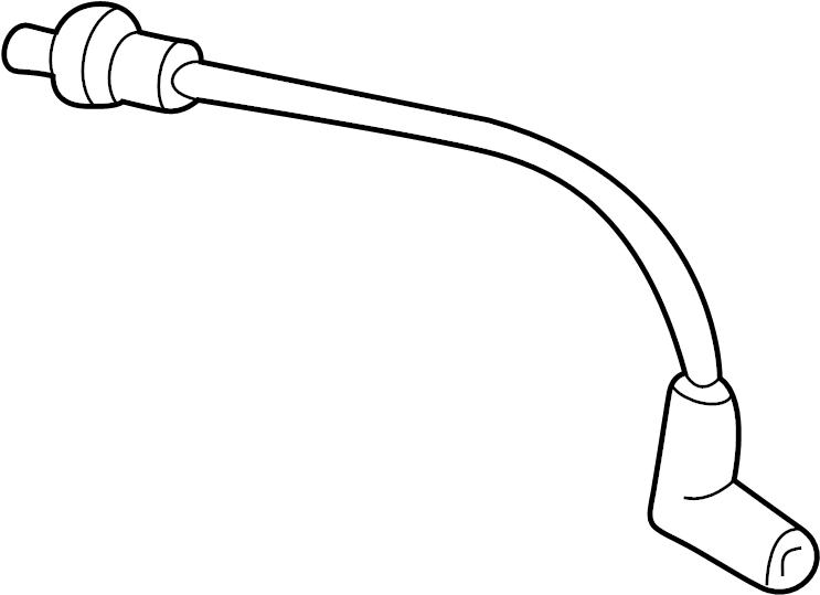 Mazda B2500 Vacuum Hose. 4WD, outlet. Suspension
