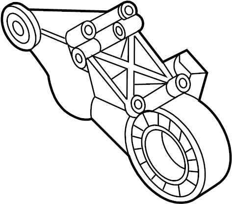 Mazda B3000 Power Steering Pump Bracket. 3.0 LITER, 1998