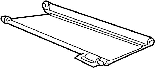 Mazda B3000 Luggage Compartment Cover. CAB PLUS, 2 DOOR