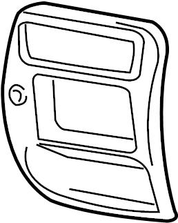 Mazda B4000 Instrument Panel Bezel. 4WD, w/o fog lamps