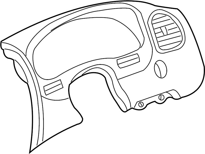 Mazda B3000 Instrument Cluster Bezel. 1995-97. W/O