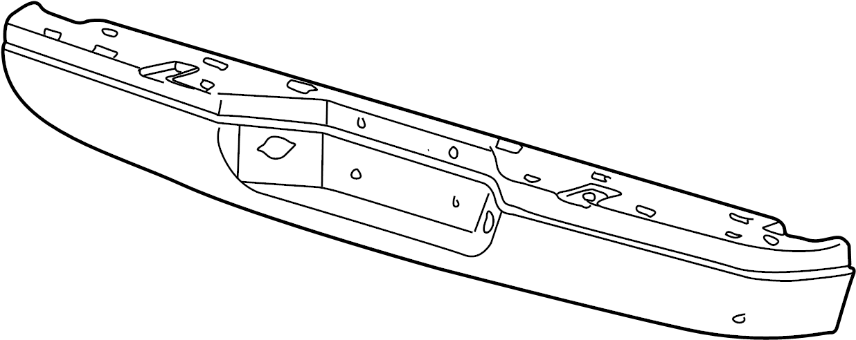 Mazda B3000 Bumper Face Bar. Primer. Rear, Roof
