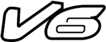 Mazda Tribute Hatch Emblem (Rear). V6. Hatch Emblem. Lock