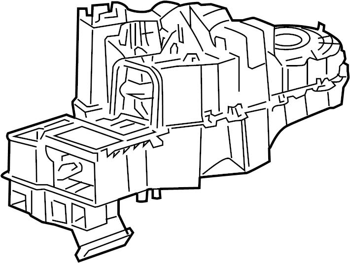 Mazda Tribute Hvac unit case. Manual a/c. Heater, assy