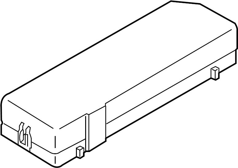 Mazda Tribute Fuse Box Cover. Upper, Telematics, Lower