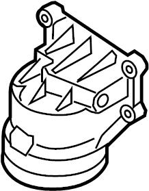 Mazda Tribute Engine Oil Filter Housing. 2.0L, 2.3L W/O