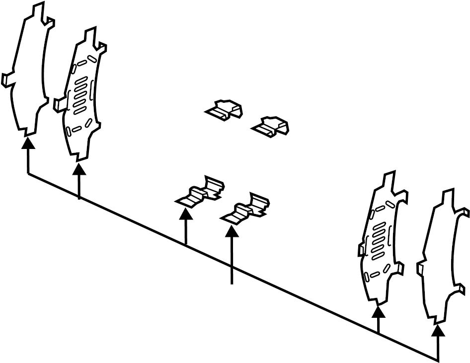 Mazda CX-5 Disc Brake Anti-Rattle Clip Set. Pads, LITER
