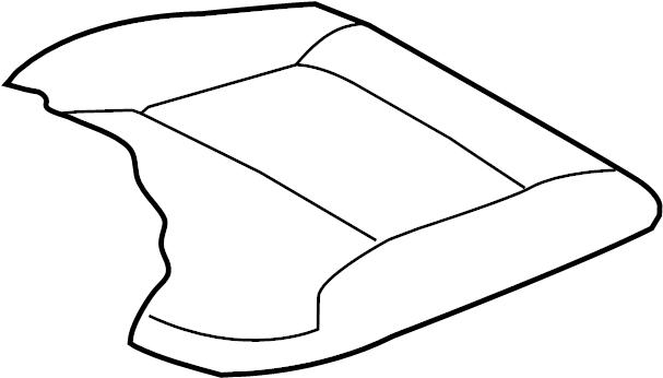 Mazda CX-9 Seat Cover. LEATHER TRIM, Touring, black