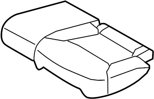 Mazda CX-9 Cushion cover. Trim LT, ST/CUSHN. (Rear