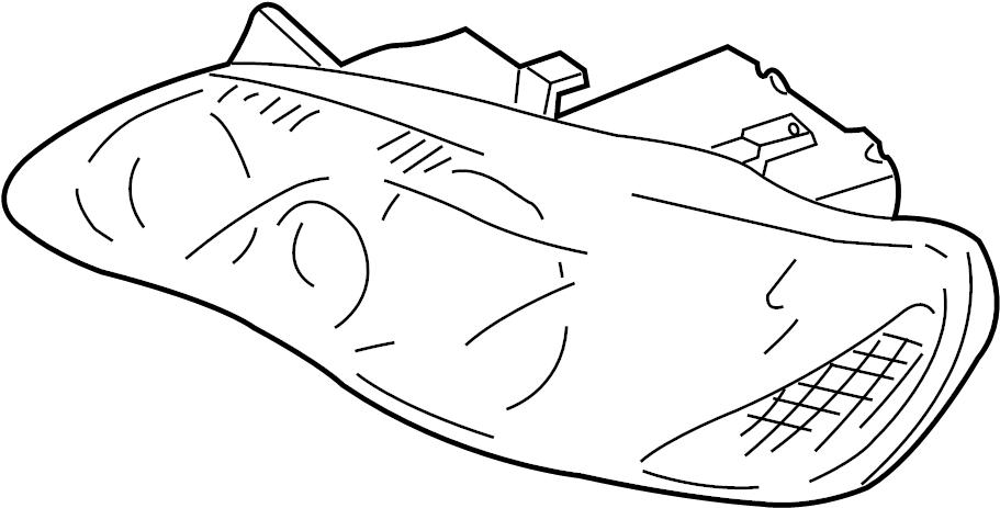 Mazda Millenia Headlight. 2001-02. Millenia; Right