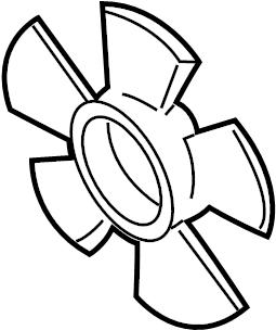Mazda Millenia Engine Cooling Fan Blade. 1995-98, LEFT