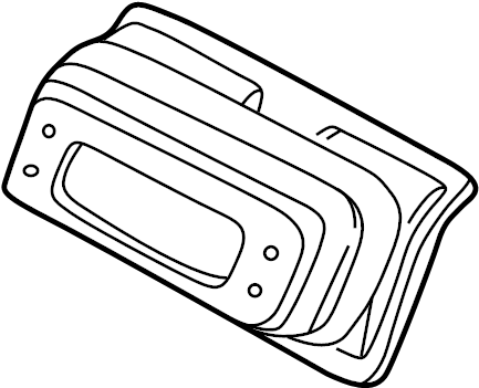 Mazda Millenia Engine Air Intake Hose Seal. 1995-96. 1997