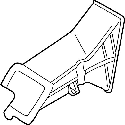 Mazda Millenia Engine Air Intake Hose. 1995-96, rear. 1997