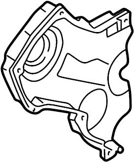 Mazda 626 Engine Timing Cover. Left, LITER, CYLINDER