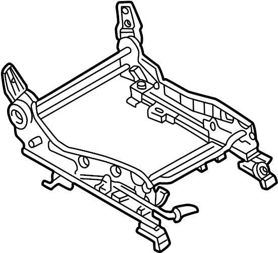 Mazda Millenia Seat Adjuster. PASSENGER SEAT, MANUAL, 1995