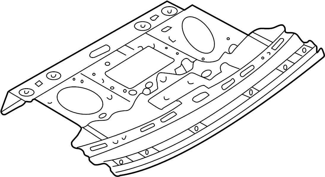 Mazda Millenia Package Tray. BODY, REAR, FLOOR