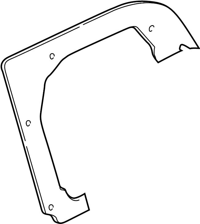 Mazda Millenia Tail Light Housing Seal. ON LID 1995-2000