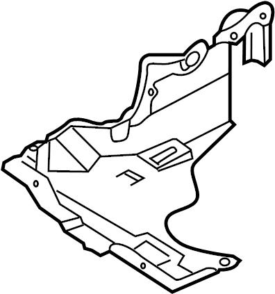 Mazda Protege Radiator Support Splash Shield (Right