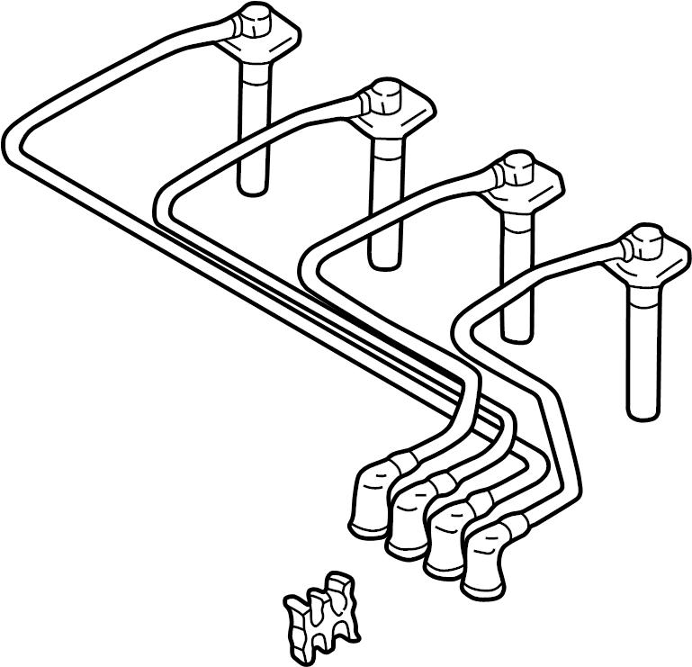 Mazda Protege Spark Plug Wire Set. 1.8 LITER. Protege; 1