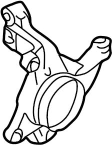 Mazda Protege Steering Knuckle. SUSPENSION, COMPONENTS