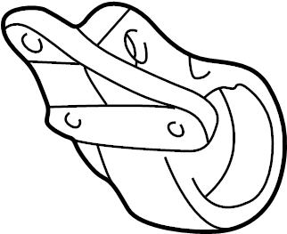Mazda Protege Cv axle shaft carrier bearing bracket. 1.8