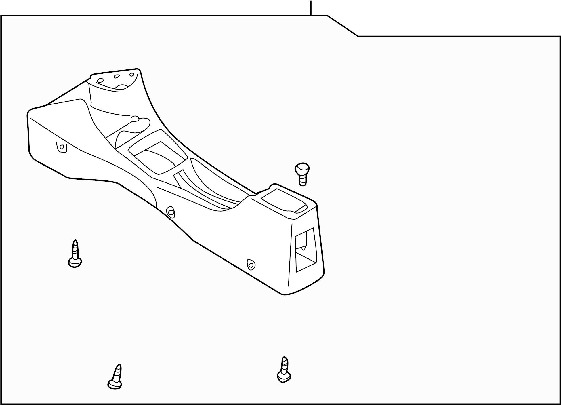 Mazda Protege Seat Console 00 Lx Amp Es Gray Center