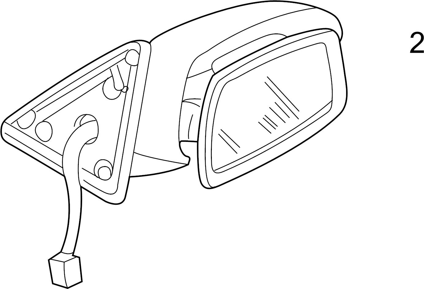 Mazda Protege5 Door Mirror Glass. Manual mirror. Power