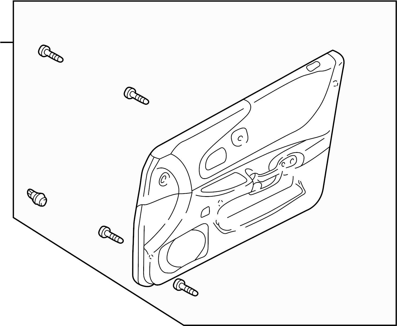 Mazda Protege Door Interior Trim Panel 01 Sedan Dx