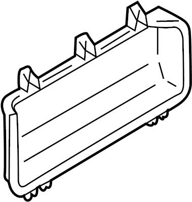 Mazda Protege5 Door Trim Panel Pocket. 1999-01 SEDAN
