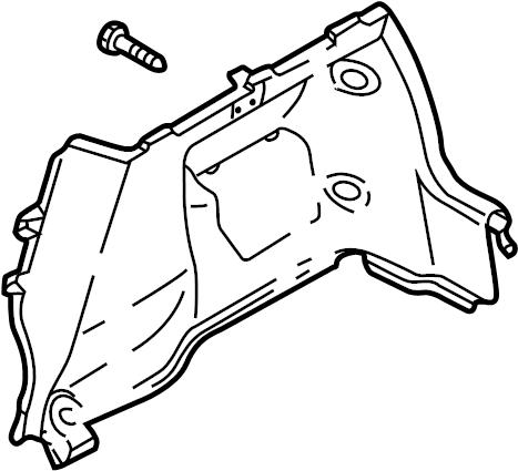 Mazda Protege5 Interior Quarter Panel Trim Panel
