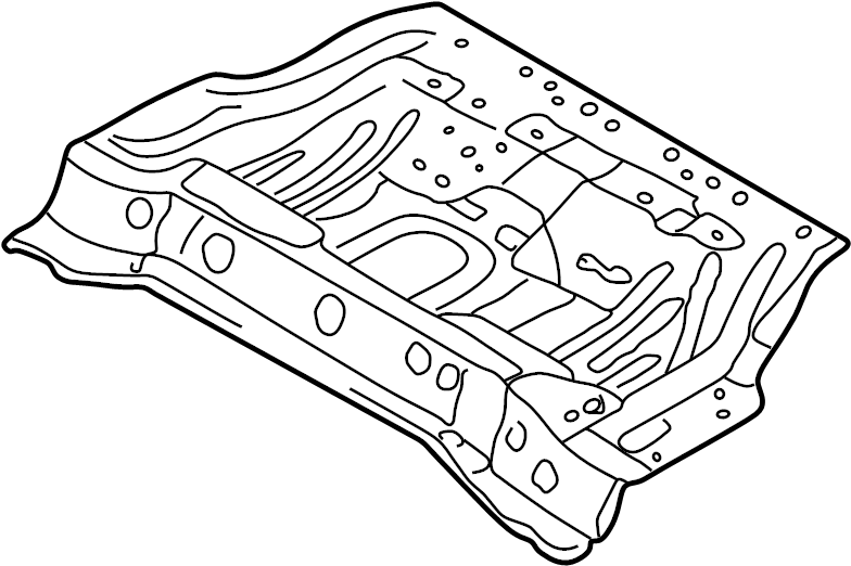 Mazda Protege5 Floor Pan. HATCHBACK. Center, BODY, REAR