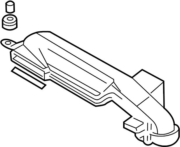 Mazda Protege5 Engine Air Intake Hose (Front). 1.6 LITER