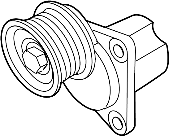 Mazda 6 Accessory Drive Belt Tensioner Assembly