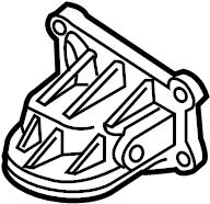 Mazda 6 Engine Oil Filter Adapter. Coolant, Hsng, LITER