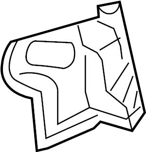 Mazda 3 Tail Light Pocket. SEDAN. Right, Rear, Lamp, FLOOR