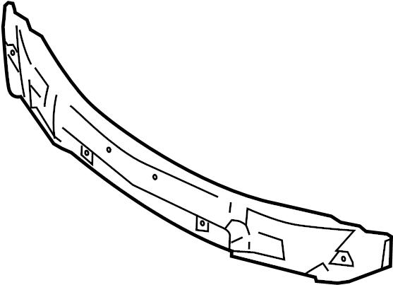 Mazda 3 Bumper Impact Absorber. 2.3 LITER. 2010-11. Front