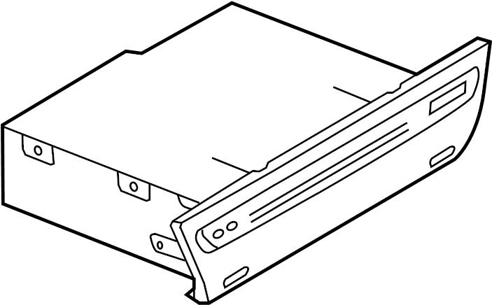 Mazda 3 Cd player. Radio & cd player, w/bose system