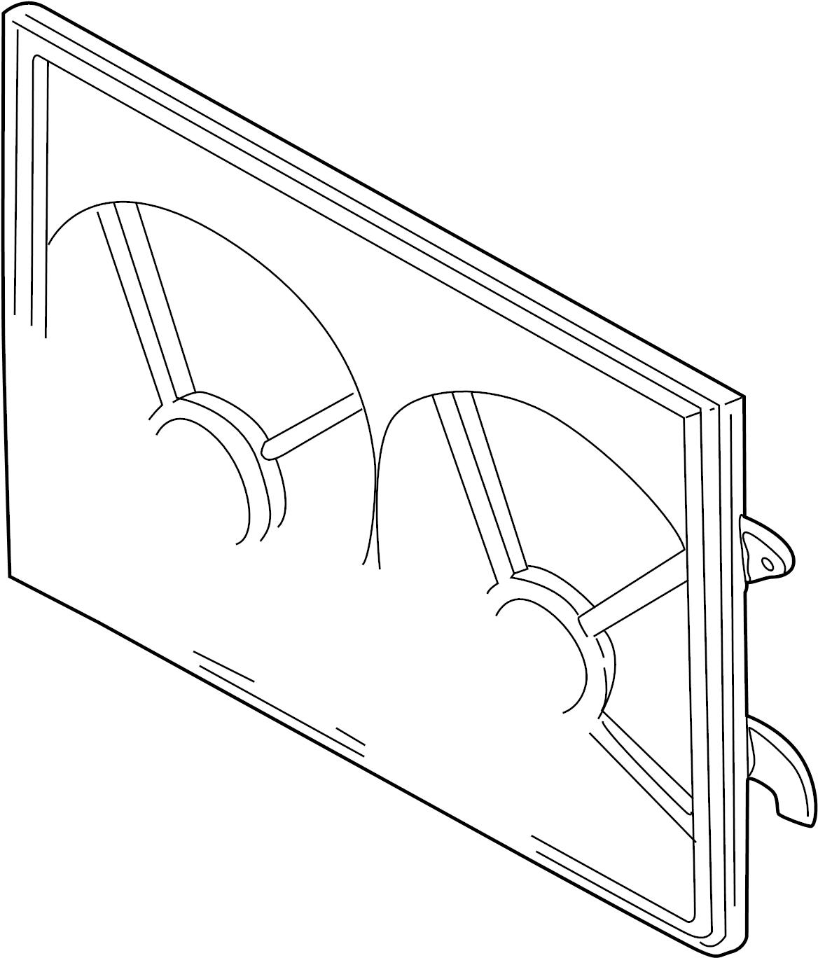 Mazda MPV Engine Cooling Fan Shroud. Make, RADIATOR
