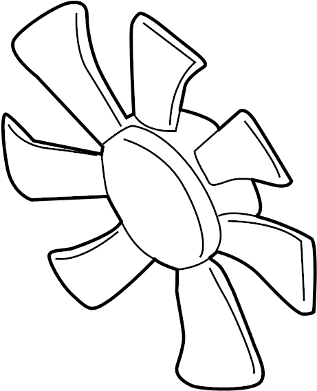 Mazda MPV Engine Cooling Fan Blade. 2002-06. MPV; Right
